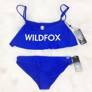 WILDFOX | Blue Ruffled Bikini Set - A21